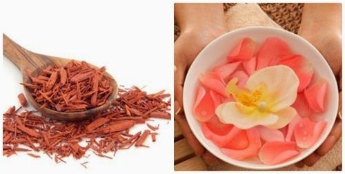 Mặt nạ từ đàn hương và hoa hồng rất hữu ích cho làn da trẻ trung của bạn
