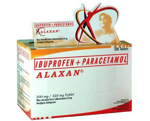 Tác dụng giảm đau tức thì của thuốc Alaxan