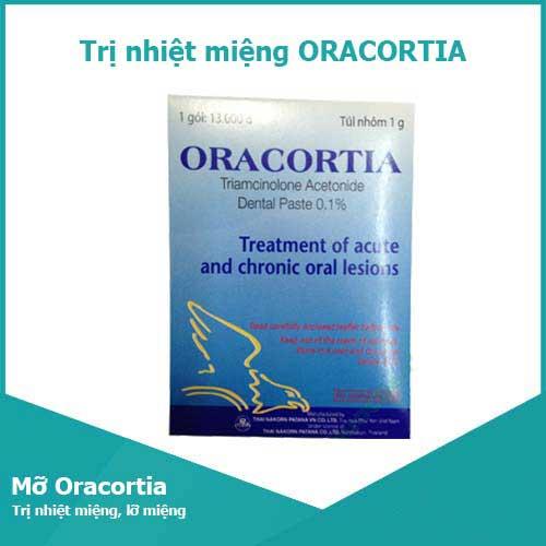 Thuốc Oracortia giúp điều trị nhiệt miệng hiệu quả