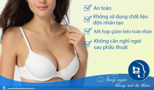 Phẫu thuật nâng ngực giúp tăng vòng 1 hiệu quả