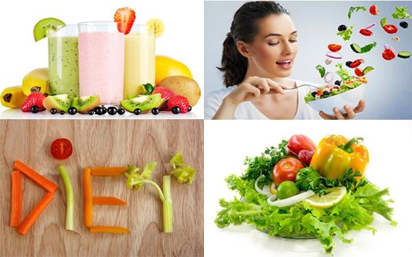 Chế độ ăn uống giảm cân sau Tết
