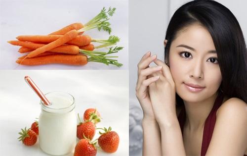 Làm trắng da hiệu quả an toàn bằng cà rốt và mật ong